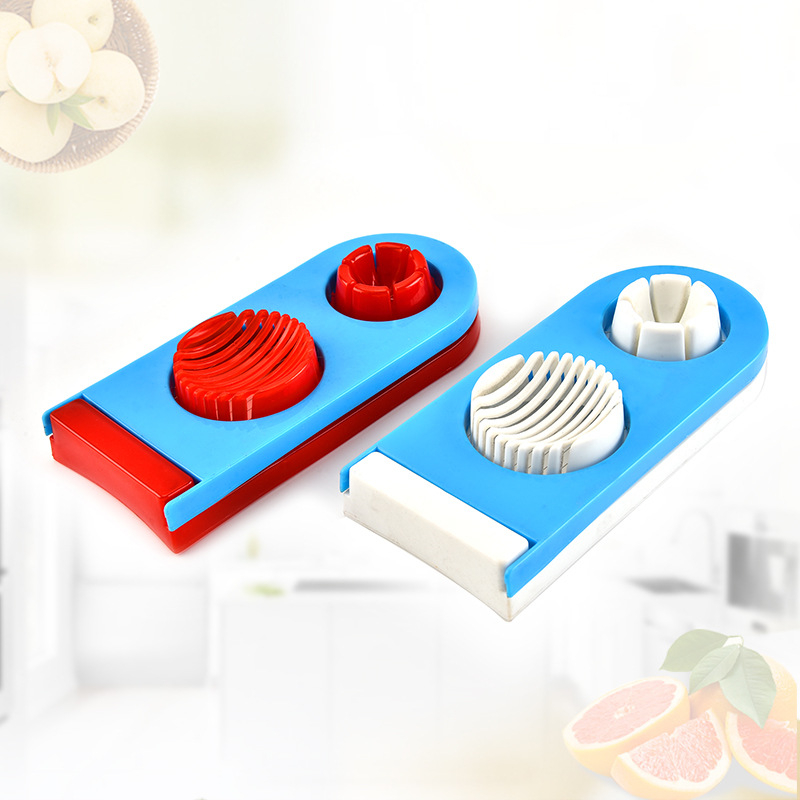 Fancy egg slicer