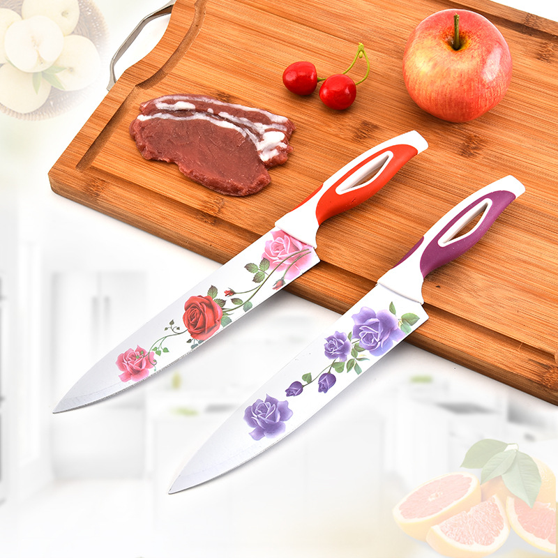 Printed chef kitchen knife