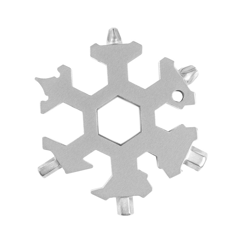 Snowflakes shape 19 in 1 multi-function EDC